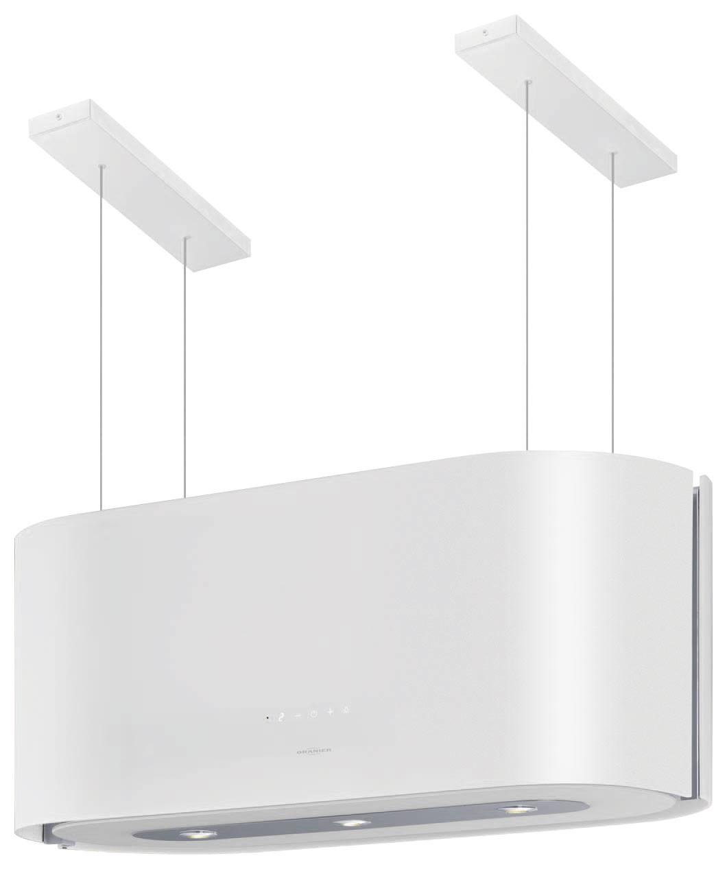 oranier dunstabzugshauben inselhaube santina isola 80 w. Black Bedroom Furniture Sets. Home Design Ideas