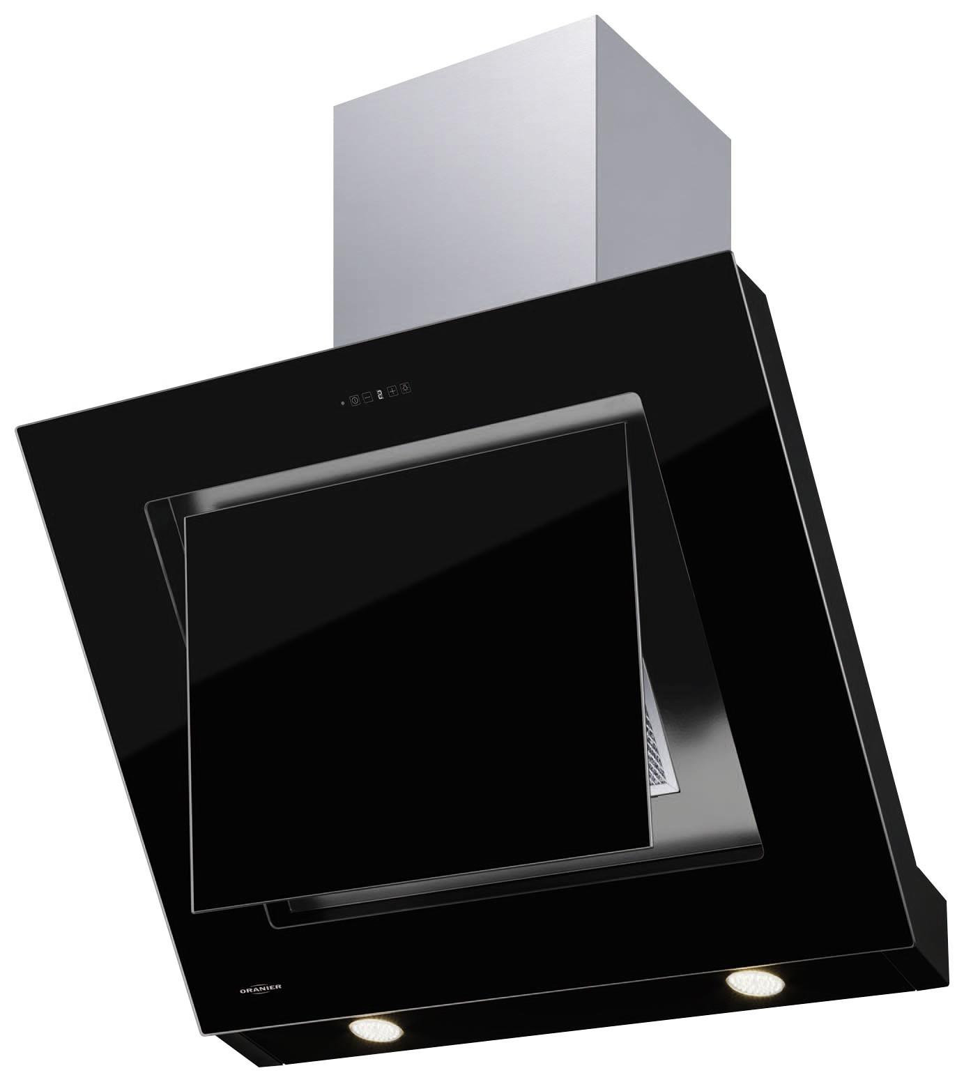 oranier lara 90 s kopffrei wandhaube dunstabzugshaube edelstahl schwarz ebay. Black Bedroom Furniture Sets. Home Design Ideas