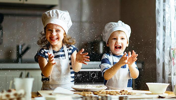 ORANIER auf der area30: Kinder in einer perfekten Küche