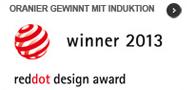 Flächen-Induktion von ORANIER gewinnt red dot design award 2013